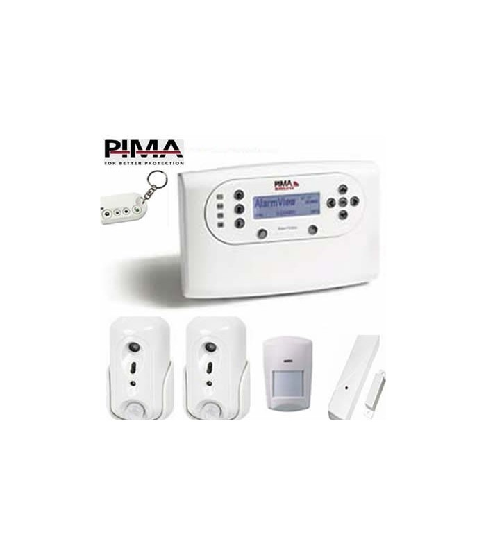 Pima wireless alarm with cameras and video verification