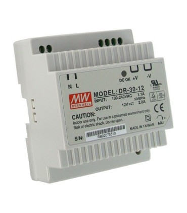 Power supply switched 12V 2A Format DIN rail
