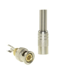 Conector BNC para soldar con manguito termoretráctil