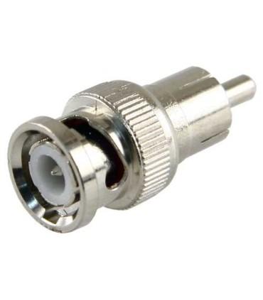 Connecteur BNC mâle à RCA mâle.