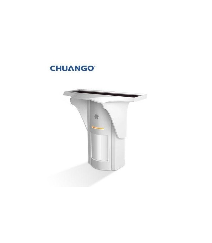 Chuango Detector inalámbrico de movimiento al aire libre con el panel solar