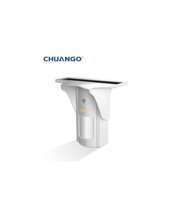 Chuango Rivelatore PIR esterno senza fili con pannello solare