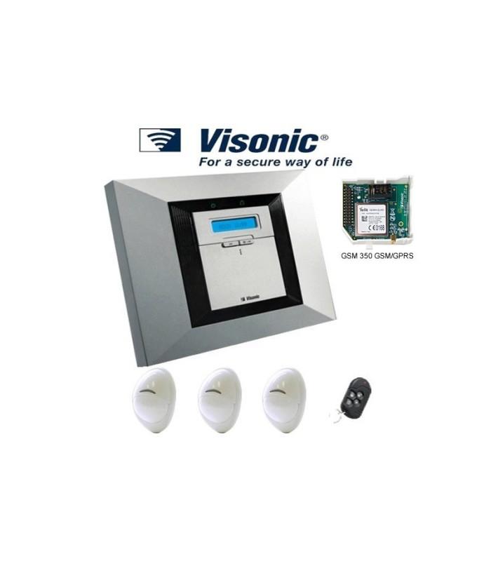 Kit de alarme Visonic PowerMax Pro com GSM