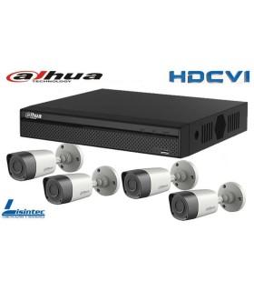 Kit de surveillance vidéo DVR avec quatre caméras HDCVI Dahua