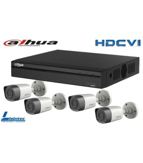 Kit de Video Vigilancia DVR con 4 cámaras HDCVI Dahua