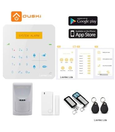 Kit de alarme GSM com ou sem fios