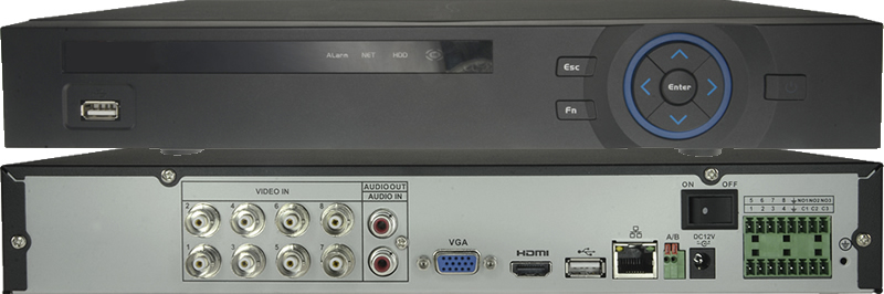Video recorder HDCVI 8 channels, with input and output alarms HCVR-5108HE